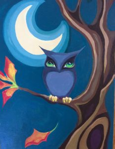 Wine and Paint Owl